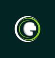 circle letter g business logo design vector image vector image