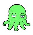 comic cartoon alien squid face vector image vector image