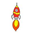 comic cartoon spaceship vector image vector image