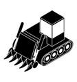 construction bulldozer icon simple style vector image