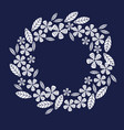 decorative leave and flower wreath design element vector image vector image