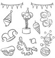 doodle of circus object hand draw style vector image vector image