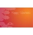 Dove on tree Valentines backgroudns vector image