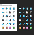 e-book reader icons vector image vector image