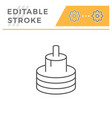 electric cable line icon vector image vector image