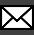 email icon isolated on white background vector image vector image