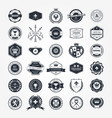 emblems badges and retro seals set - blazons vector image vector image