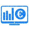 euro market monitoring grunge icon vector image vector image