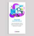 financial statement analysis person with tool vector image vector image