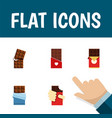 flat icon bitter set of wrapper shaped box vector image vector image