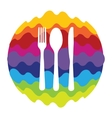 Food and Drink Rainbow Color Icon for Mobile vector image vector image
