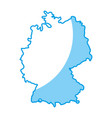 germany country map icon vector image vector image