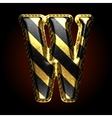 golden and black letter w vector image vector image