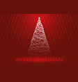 greeting card with stylized christmas tree vector image vector image