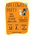 Halloween party poster design with kids vector image vector image