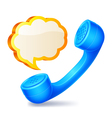 Handset and speech bubble vector image