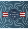 Happy Memorial Day Emblem with Text vector image vector image