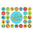 hello summer collection colorful funny ice vector image vector image