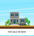home for rent or sale flat vector image