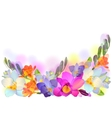 horizontal background with gentle freesia flowers vector image vector image