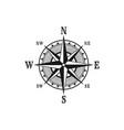 icon marine nautical navigation compass vector image vector image