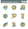 Icons line set premium quality of sports equipment vector image vector image