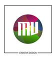 initial letter mv logo template design vector image vector image