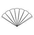 isolated hand fan vector image vector image