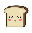 kawaii cartoon bread slice vector image vector image