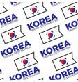 korea travel destination seamless pattern korean vector image vector image