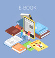 library isometric concept vector image vector image