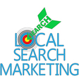 Local Search Marketing Target SEO vector image vector image