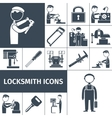 Locksmith Icons Black vector image vector image