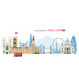 london england and united kingdom landmarks vector image