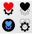 love gear eps icon with contour version vector image vector image