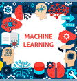 machine learning paper template vector image vector image