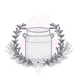 mason jar with wreath vector image vector image