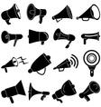 Megaphone speaker icons set vector image vector image