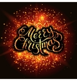 Merry Christmas Snowflakes and fireworks effect vector image