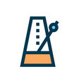 metronome icon sign symbol vector image vector image