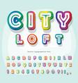 modern urban font holographic 3d alphabet trendy