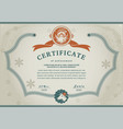 old fairytale christmas certificate santa claus vector image vector image