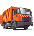 orange garbage truck vector image vector image
