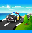 police car cartoon in the s vector image vector image