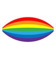 rainbow icon cartoon isolated white background vector image