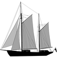Sailing Ship Ketch vector image vector image