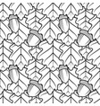 seamless pattern with oak leaves and acorns vector image vector image