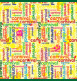 seamless repeating pattern with colored carnival vector image vector image