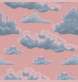 seamless texture with clouds template for vector image