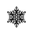 simple black hand-drawn icon of a snowflake vector image